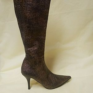 AM by Ann Marino Rich Brown Pointy Toe Boots EUC